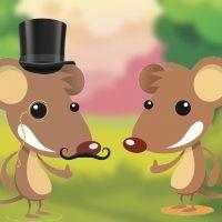 Fábula de ratón de campo y ratón de ciudad para niños