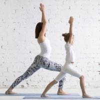 El guerrero indio. Postura de yoga para niños