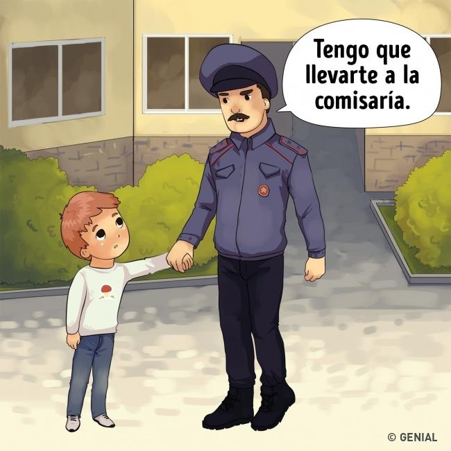 Secuestros de niños. Agente de policía