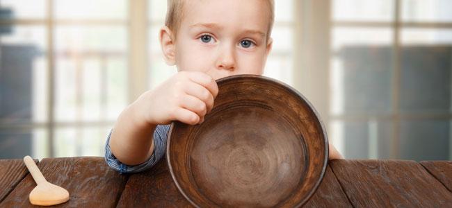 Niños con hambre a todas horas