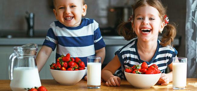 Más de 10 alimentos que generan felicidad a los niños