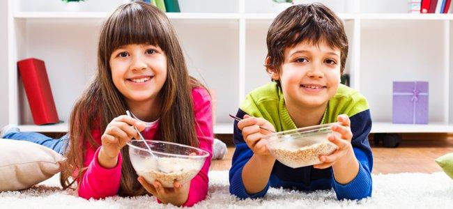 Beneficios de la avena en los niños.