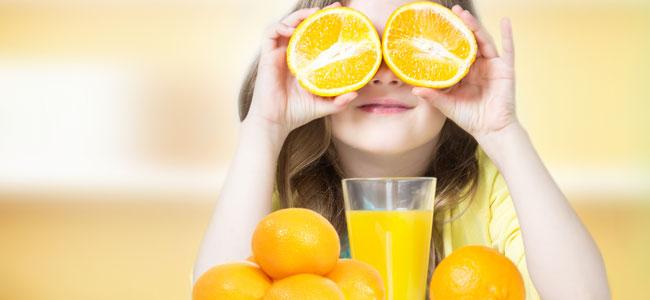 Los cítricos en la alimentación infantil