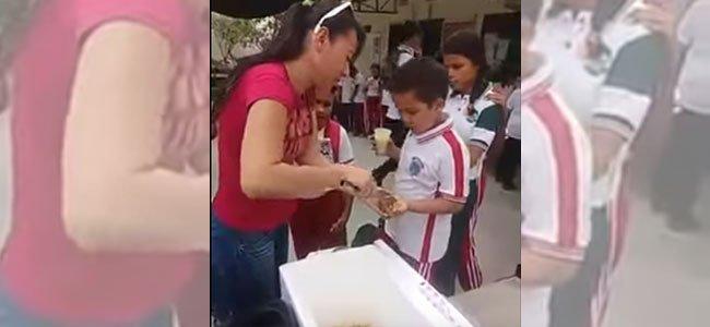 Comedor que engaña a niños