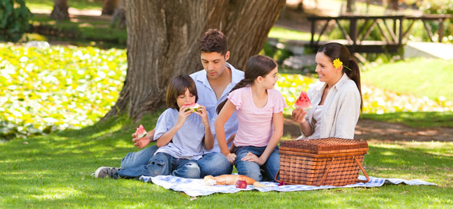 Recetas sanas para comer al aire libre con los niños