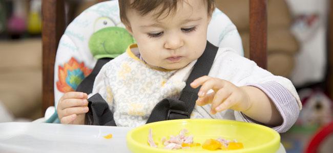 Comida no triturada para el bebé