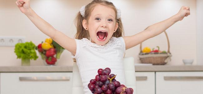 Cómo es la dieta de la felicidad para niños