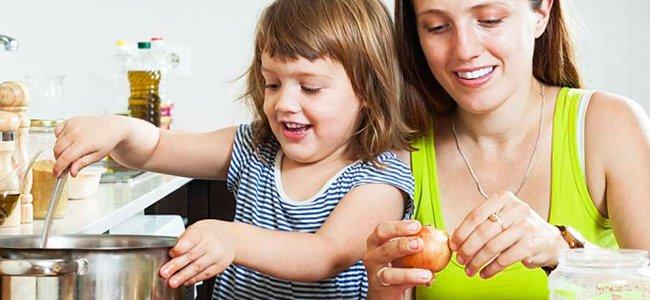 Cocina escuela para los niños