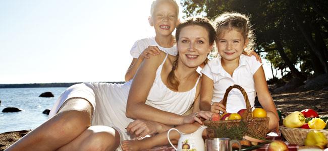 Menú sano para comer en la playa con los niños