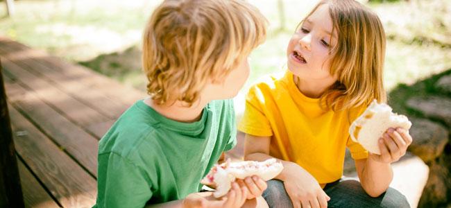 La merienda de los niños de hoy en día comparada con la de nuestra infancia