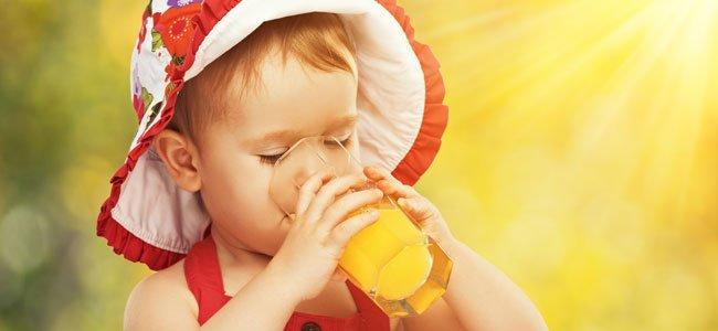 Zumo de mandarina para niños con colesterol