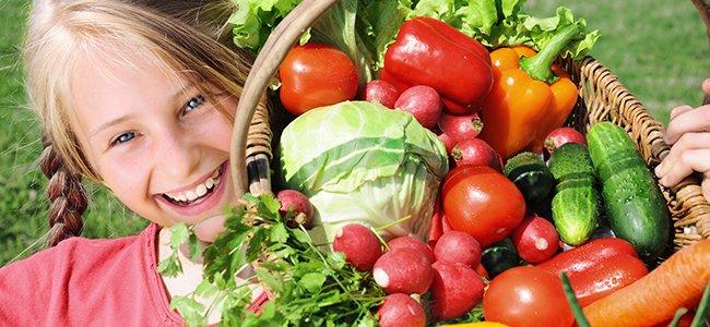 Dieta vegetariana para los niños