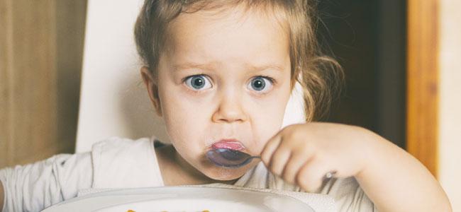 Niños que no quieren probar alimentos nuevos