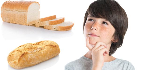 ¿Pan de molde o pan tradicional, qué es más sano para los niños?