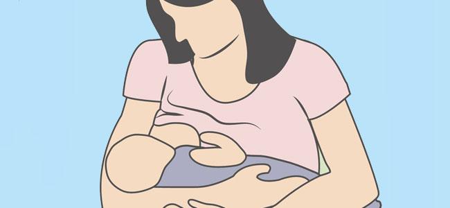 Postura de cuna para amamantar al bebé