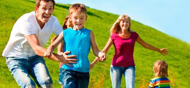 Familia actividades al aire libre