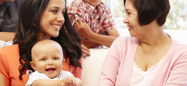 Tener una buena relación con los suegros por el bien de tus hijos