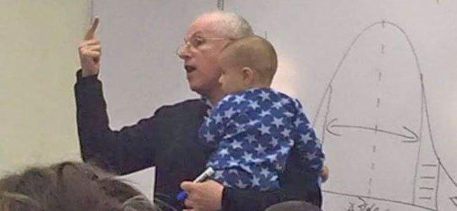Profesor israelí que permite mamás y bebés en sus clases