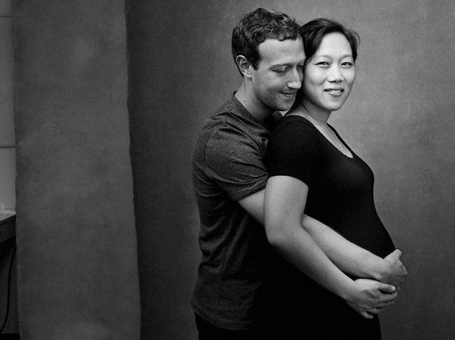 Mark Zuckerberg y su esposa Priscilla Chan, embarazados