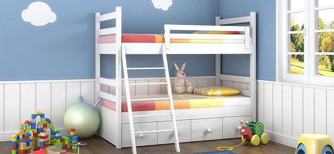 Las literas en las habitaciones infantiles