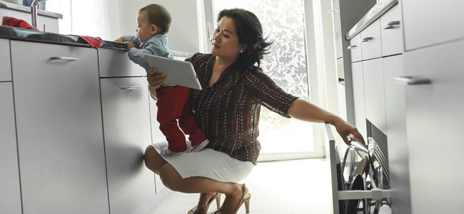 Madre ocupada
