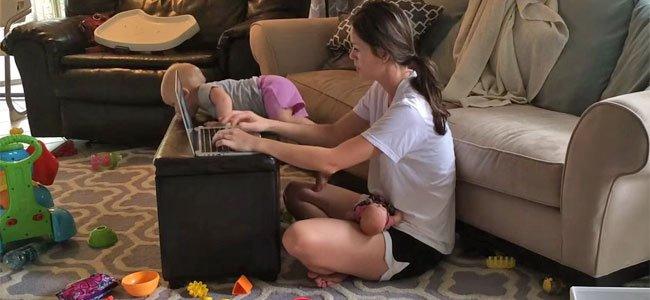 Mamás que trabajan en casa