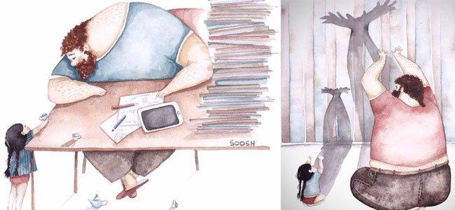 Vínculo entre padres e hijas