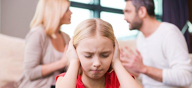 Las peleas de los padres ante los hijos