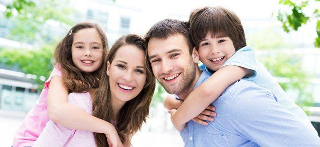 Propósitos de padres y niños para el año nuevo.