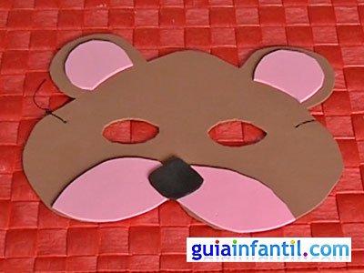 Antifaz oso paso 6
