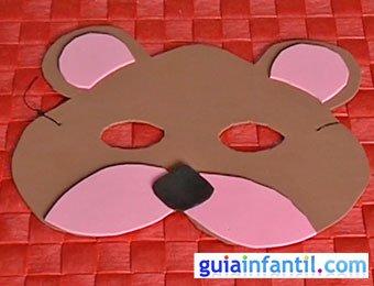 Antifaz de oso Manualidades de Carnaval