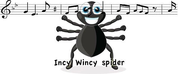 Araña canción en inglés