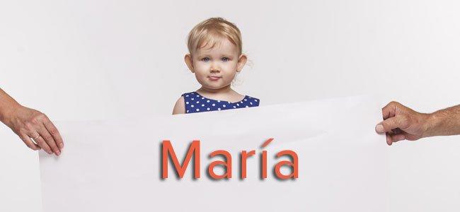 María, el nombre más popular para niñas