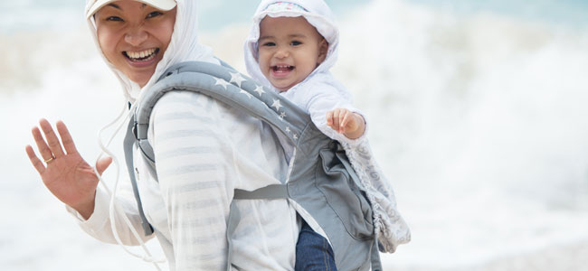 Mochila sencilla para llevar al bebé en brazos