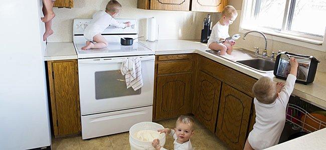 Los bebés aventureros en casa