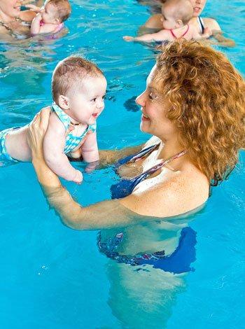 Estimulación acuática bebés