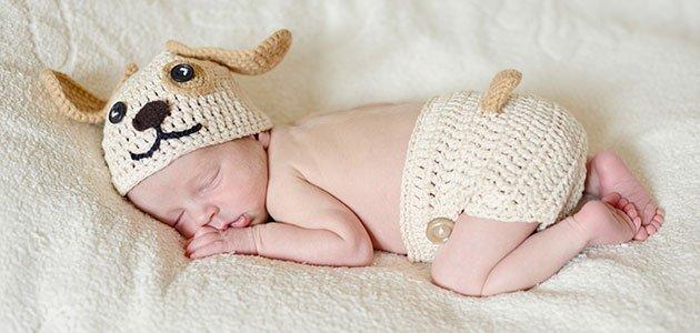 Bebé vestido de perrito