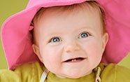 Bebé dos dientes