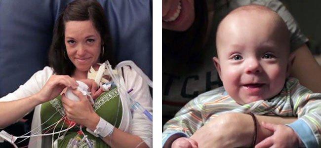 Madre con bebé prematuro