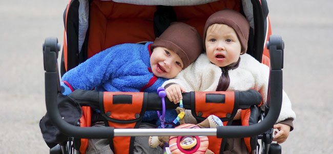 gemelos en carrito