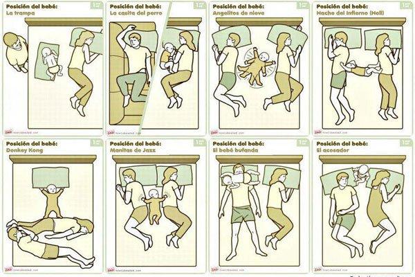 Ideas para compartir cama con un bebé