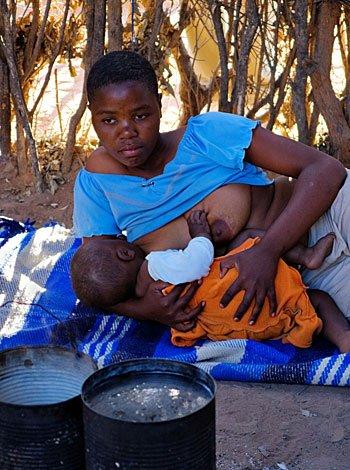 Lactancia materna en el corazón de África