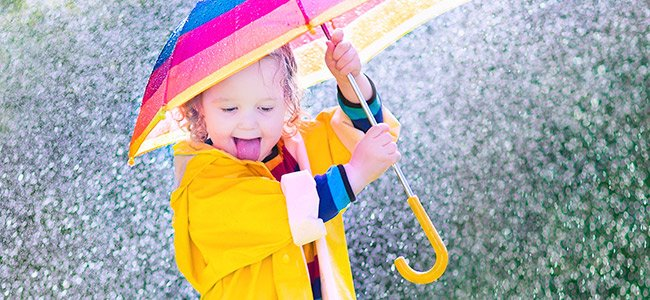 Descubrir la lluvia por primera vez