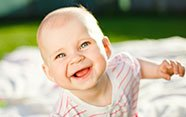 Bebé sonriente