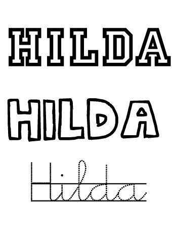 Hilda. Nombres para bebés