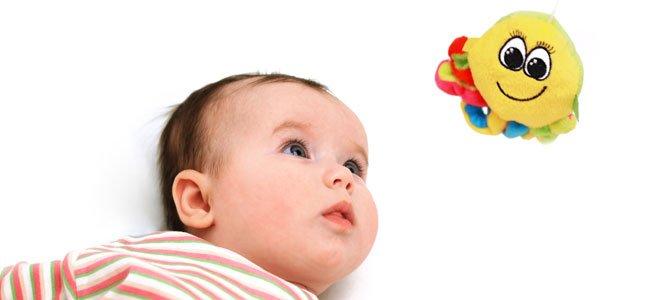 Bebé mira muñeco