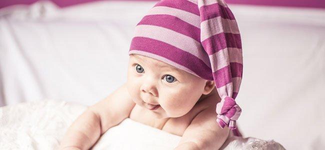 Bebé gorro rayas