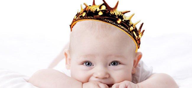 Bebé corona Juego de Tronos