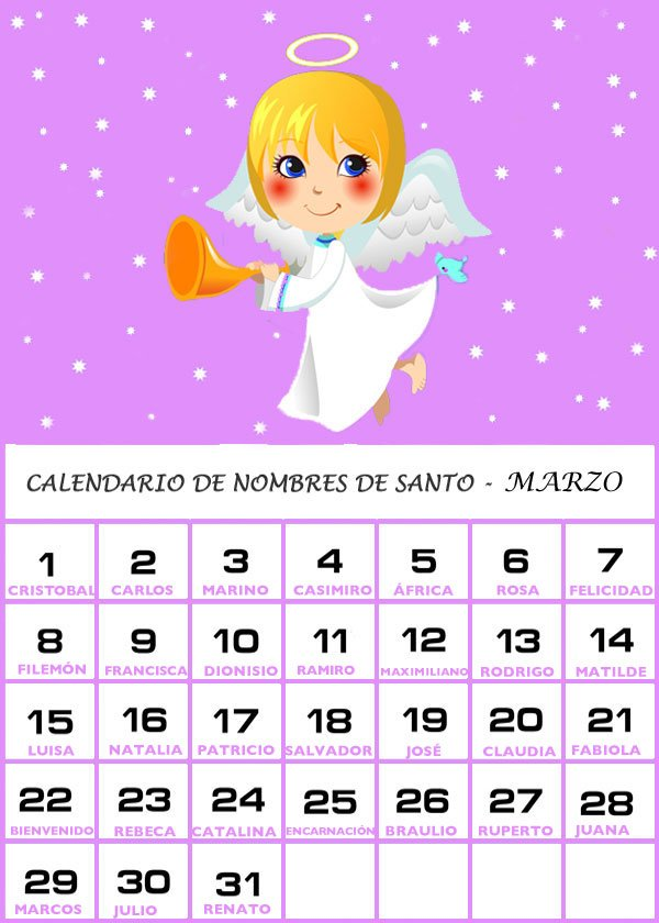 2015 Calendario Del Mes De Marzo