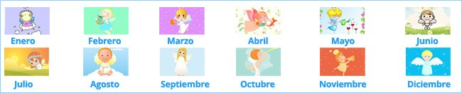 Calendario de santos de nombres de niños y niñas